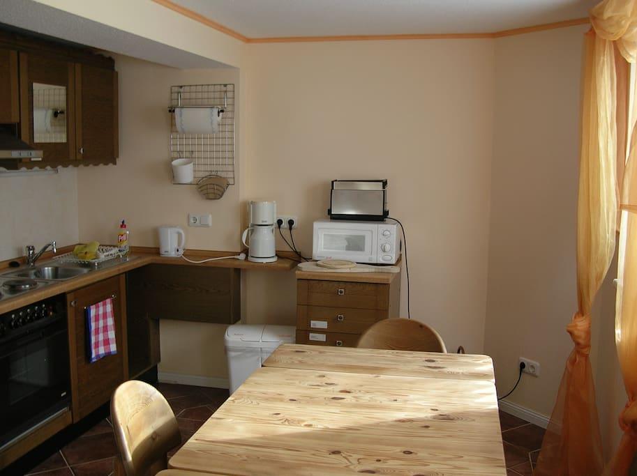 Komplette Küche mit Spülmaschine Appartement 1/2