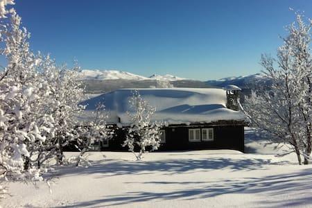 Romslig, fritt beliggende hytte i Skåbu, 1020 moh