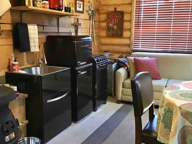 Open Living Room With Kitchenette