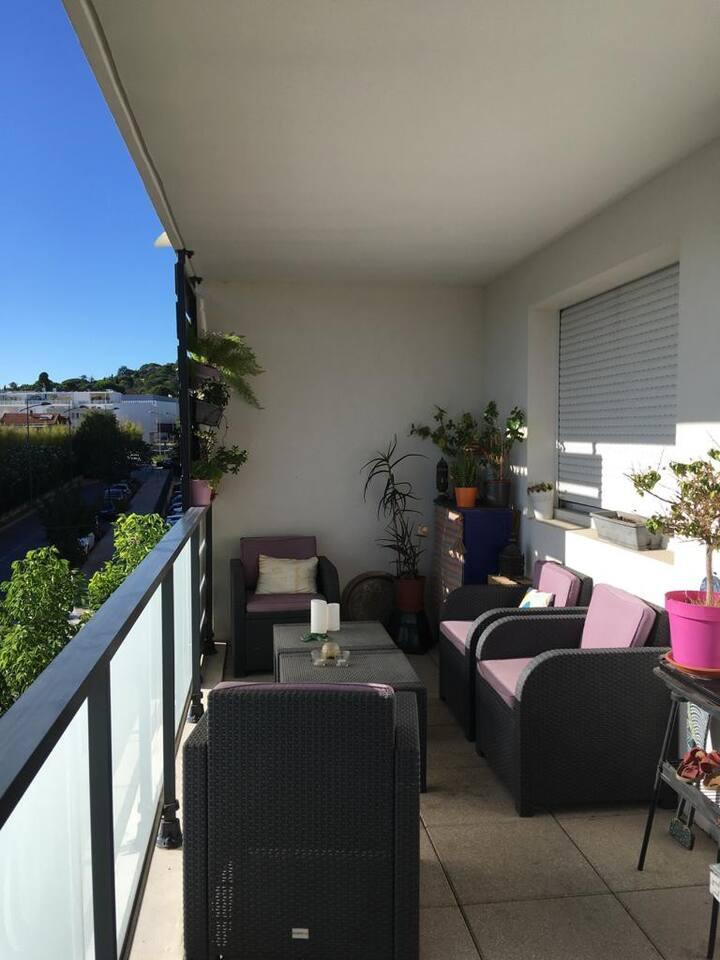 T2 cocooning, terrasse, 10 min  centre Montpellier