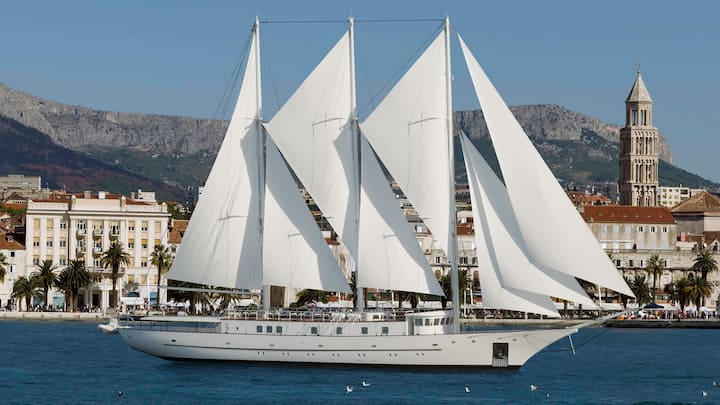 Charming M/Y Klara is a Three-Mast Schooner
