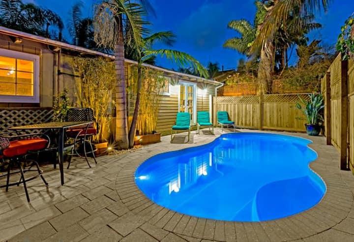 Beach Home Steps to Sand w/ Private Pool & Hot Tub