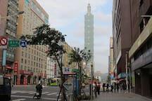 Near Xinyi Road and Taipei 101