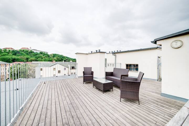 Happy apartment with a terrace and a wonderful view - Brno - Lägenhet