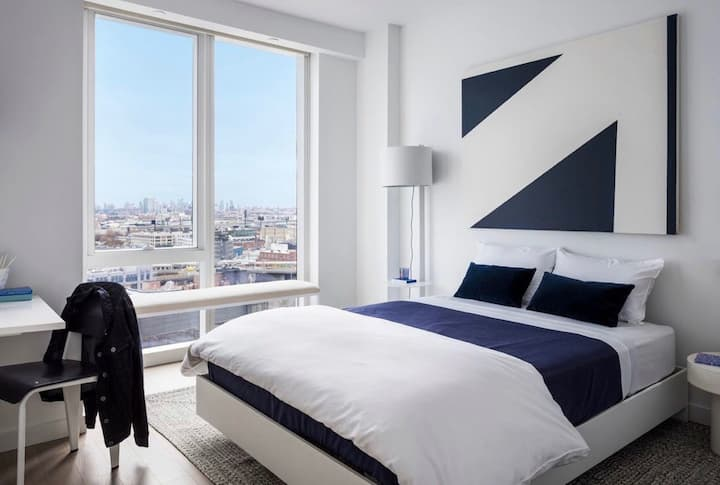 5 mins to NYC Amaze City View Luxury King Bedroom