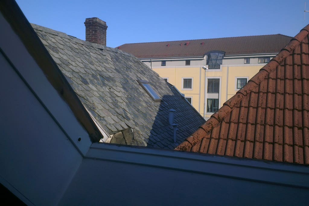 View from one of two Velux roof windows