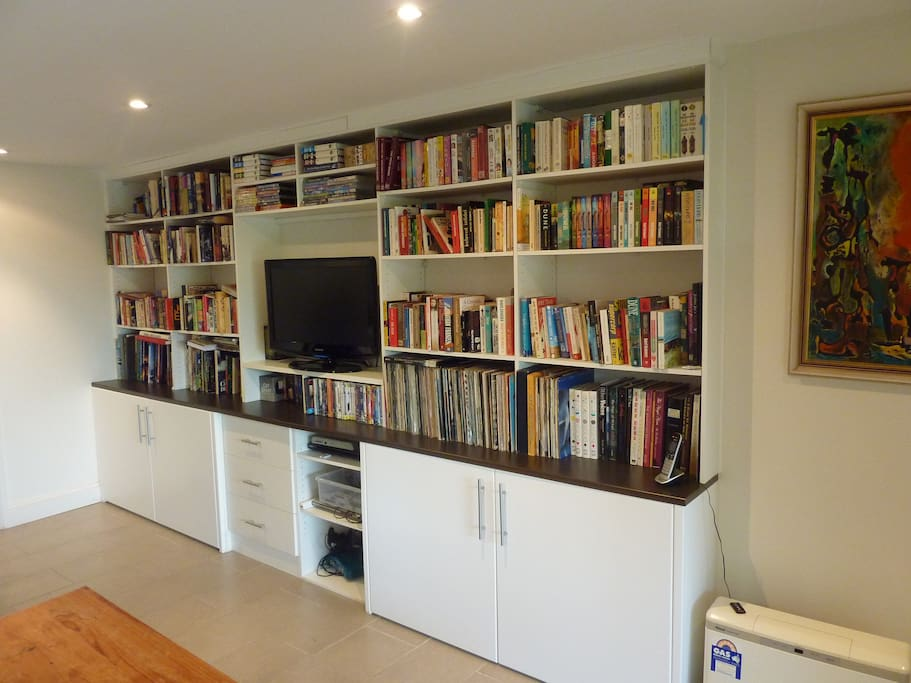 A library of books and DVD's available for those days/nights you stay in.