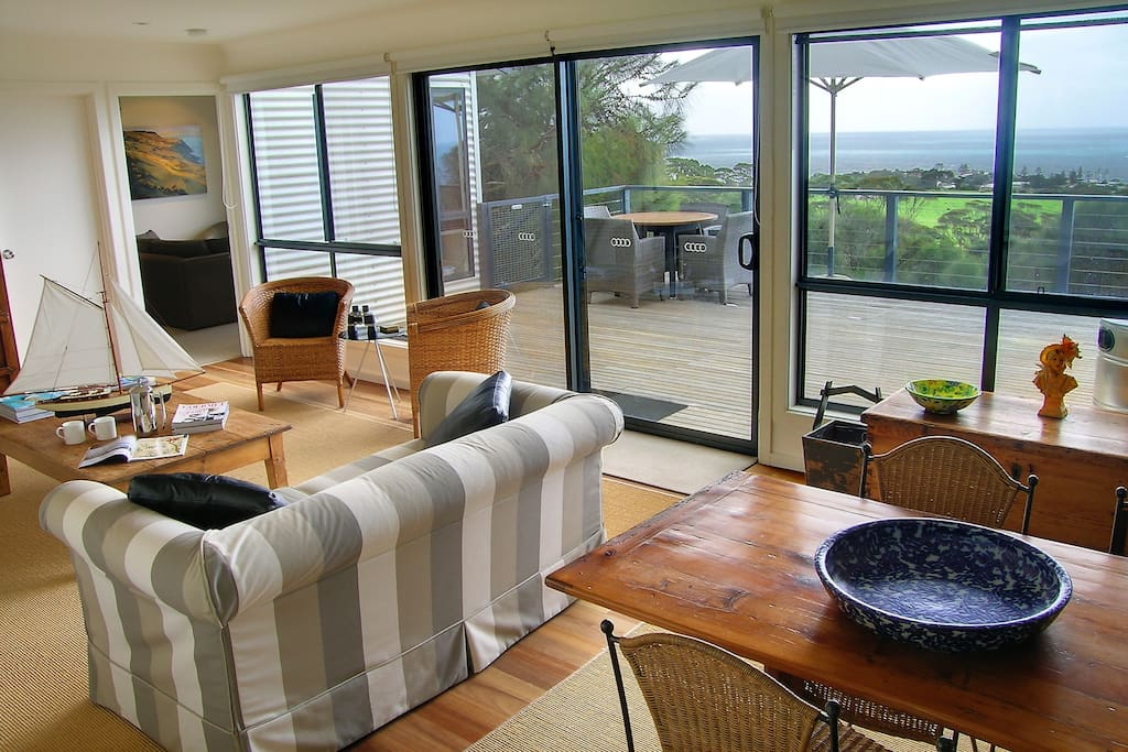 Sitting room  and deck