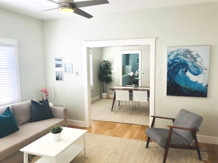 NEW-Charming Spacious Beach Home 3Blks to the Sand