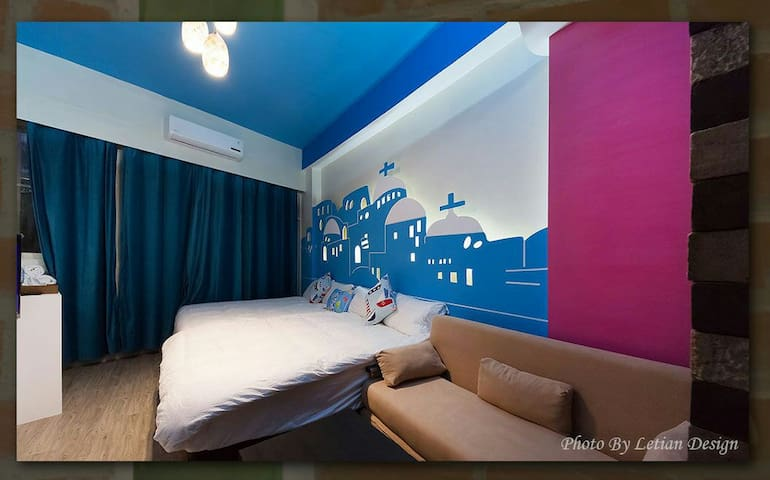 2015希臘四人房含獨立衛浴陽臺.全新設備步行羅東夜市美食街只要一分鐘 - Luodong Township