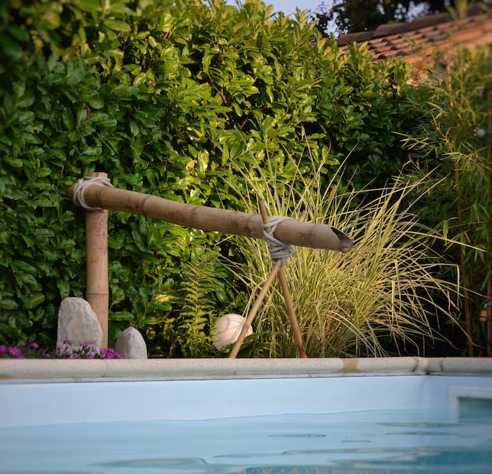 fontana in bambu