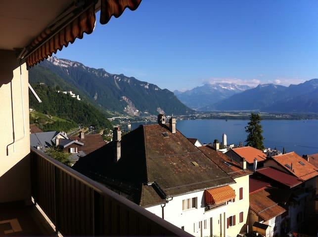 3 Zimmer-Wohnung mit super Aussicht - 1822 Montreux - Leilighet
