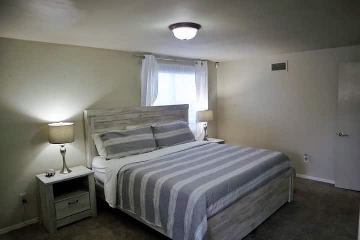 Cozy spacious master room.