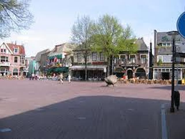 Market Oldenzaal with summer terraces
