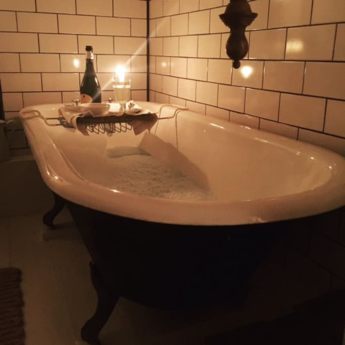 The roll top bath is the best with a glass of wine at night :-)