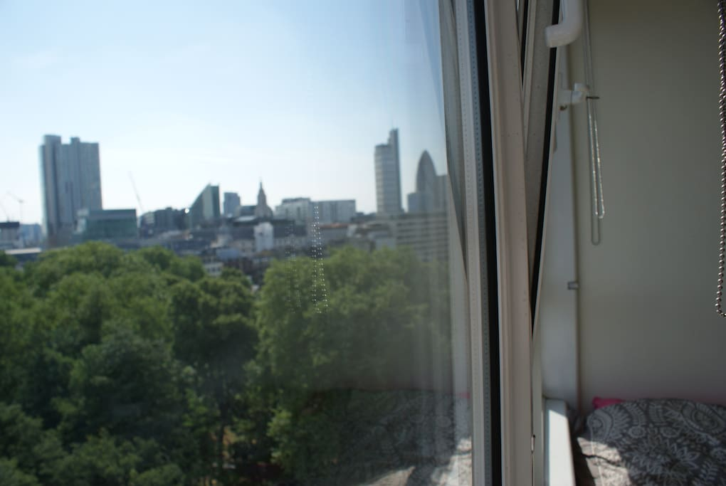 View from the bedroom across the City of London