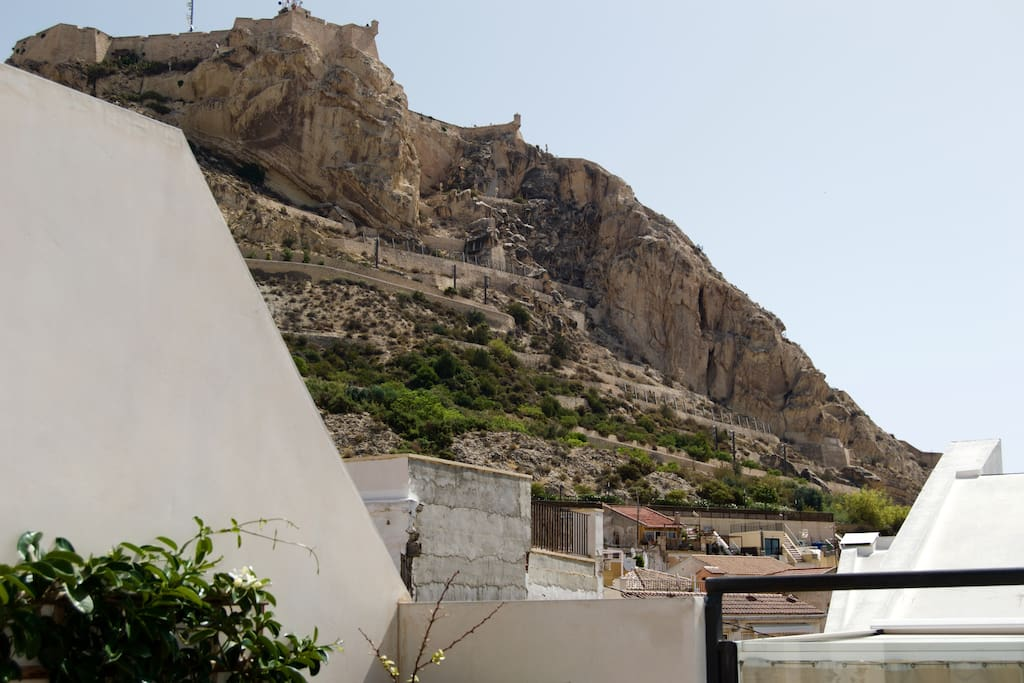 Views from the terrace of the Santa Barbara Castle, Alicante's emblem