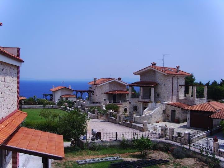 Afytos sea view Villa