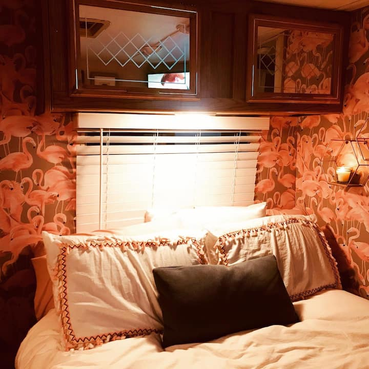 """Super Chic """"Pink Flamingo"""" RV is a MUST STAY"""