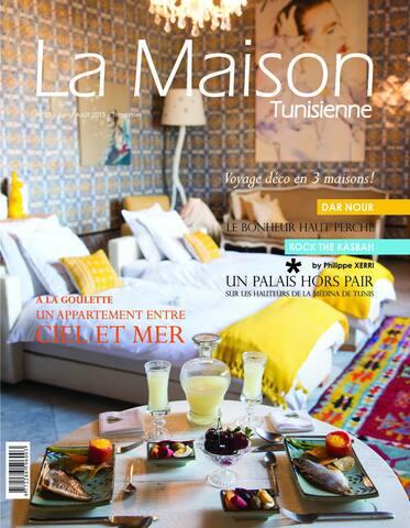 La suite principale de 45 m2 en  Couverture d'un magasine de décoration Tunisien :)