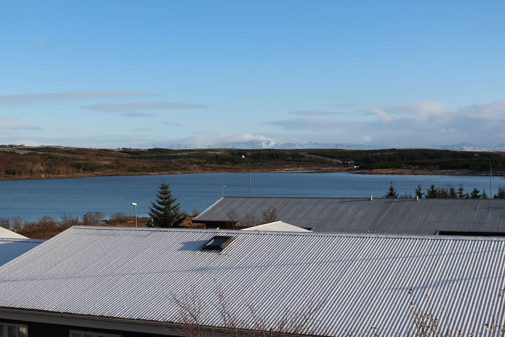 View from the house over Redlake (Rauðvatn)