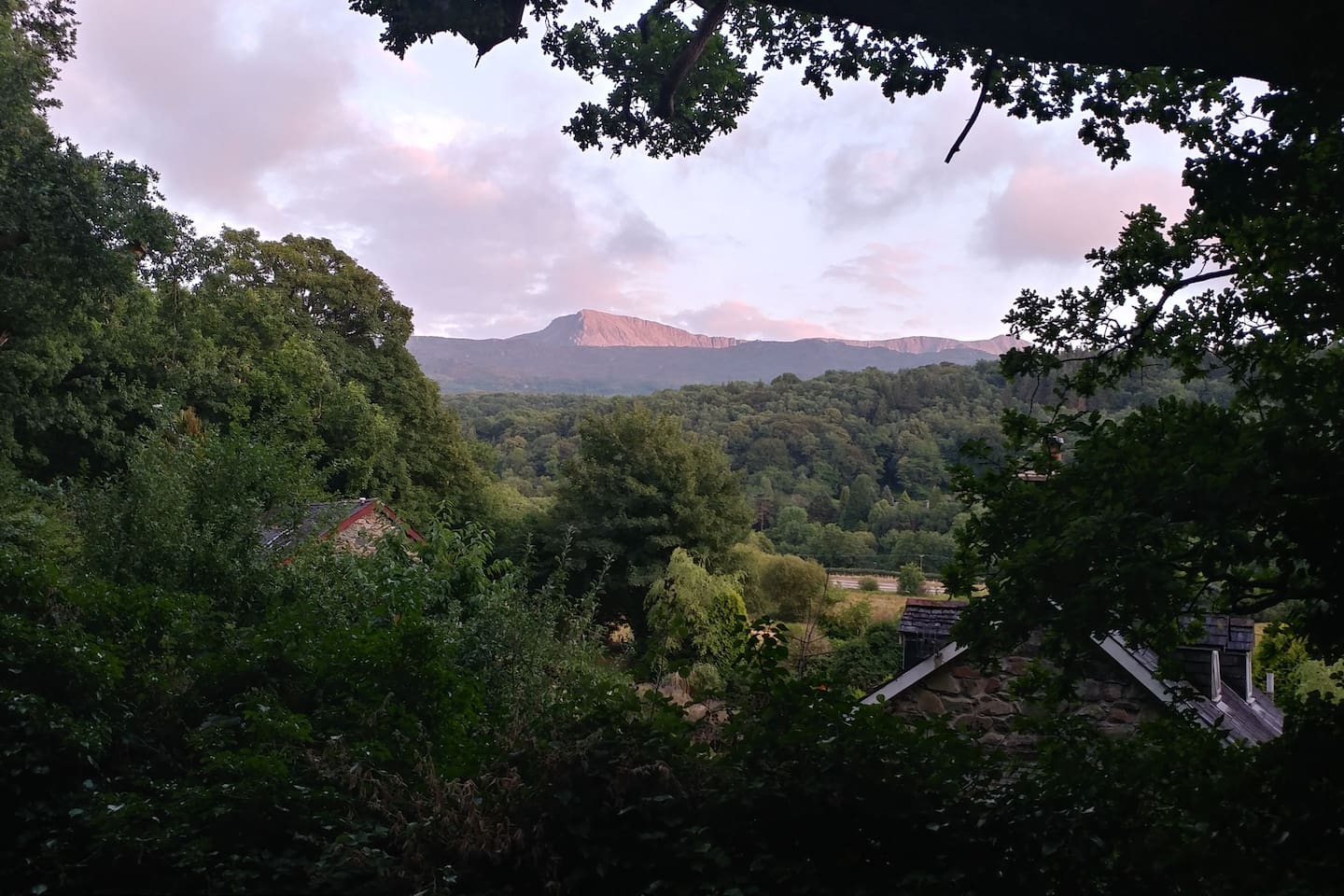 A view of Cader Idris from Tanyfford