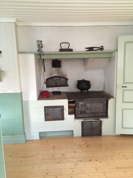 The old kitchen. Don't worry, we have modern kitchen facilities as well.