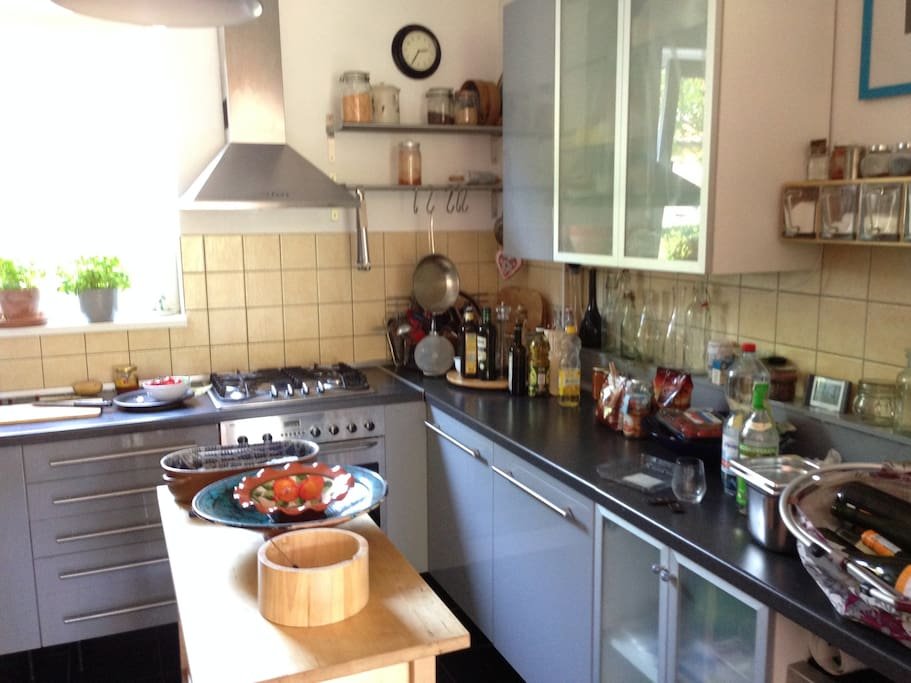 We love to cook so the kitchen is quite big