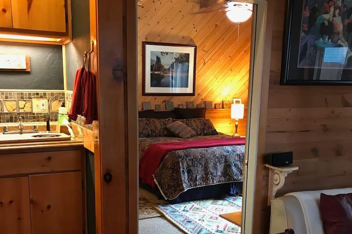 King Bedroom Suite, Kitchen, Adjacent Sunken Living Room.