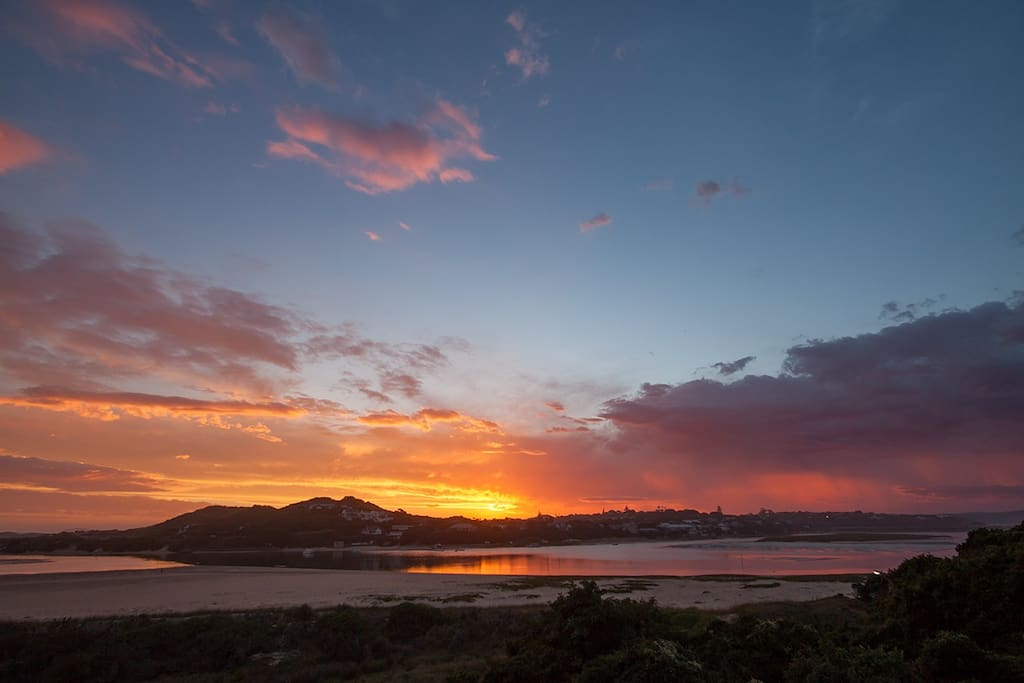 From the front garden, enjoy the famous Kenton-on-Sea sunsets