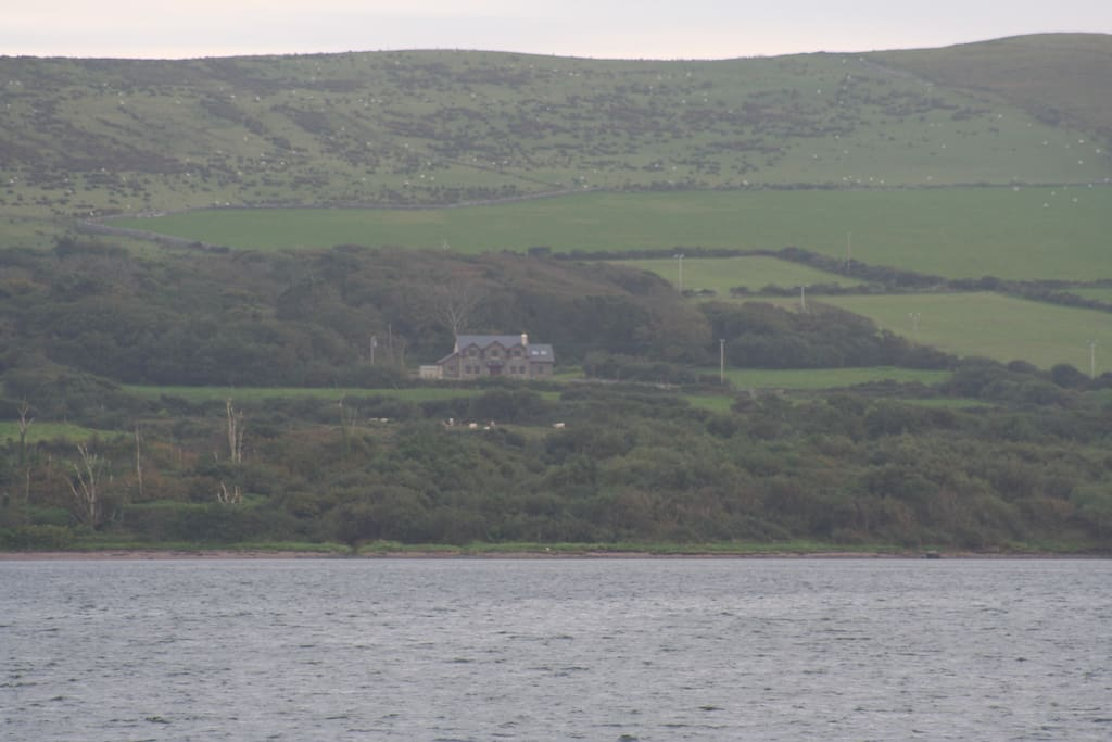 View of the home from Dingle town