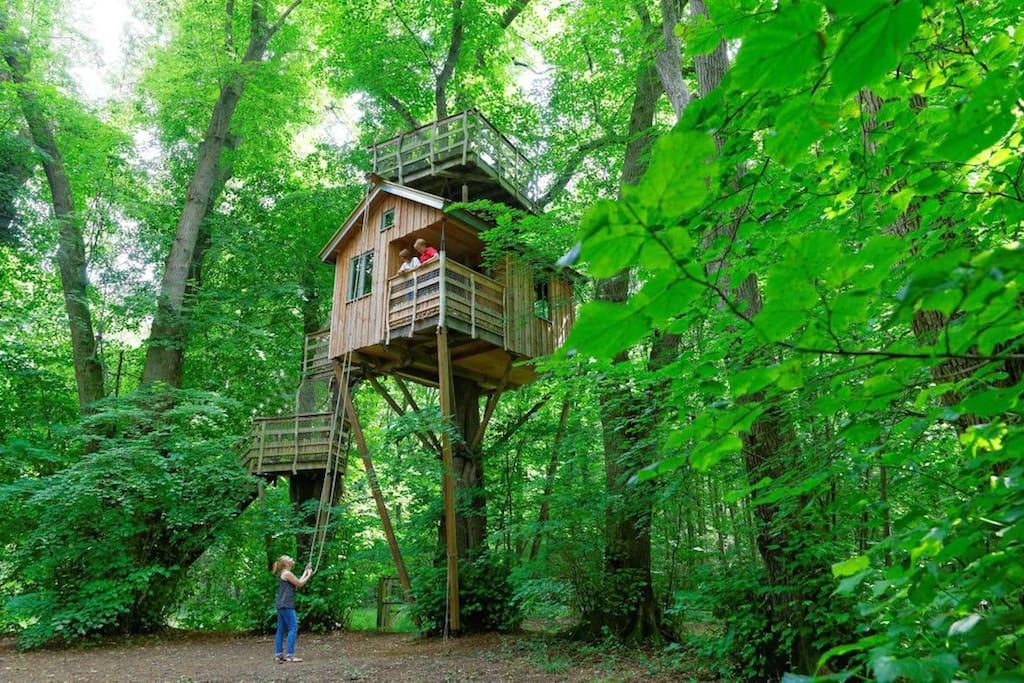 la cabane dans les arbres treehouses for rent in. Black Bedroom Furniture Sets. Home Design Ideas