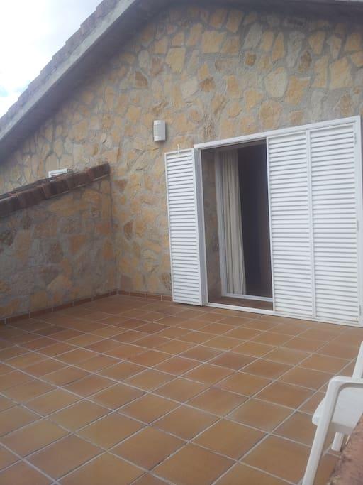 Terraza privada de la habitacion