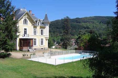 Chambres d'hôtes au Domaine des Soyeux - Saint-Julien-Molin-Molette - 城堡