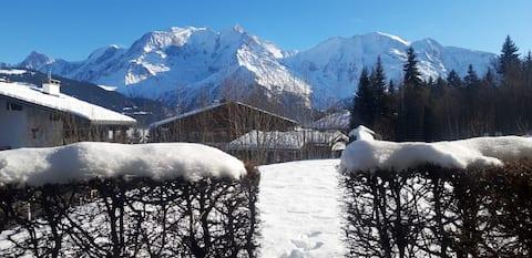 Mon refuge face au Mont Blanc
