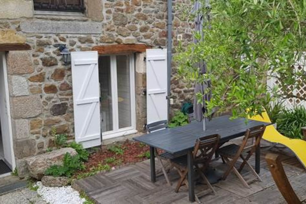 terrasse au sud privative