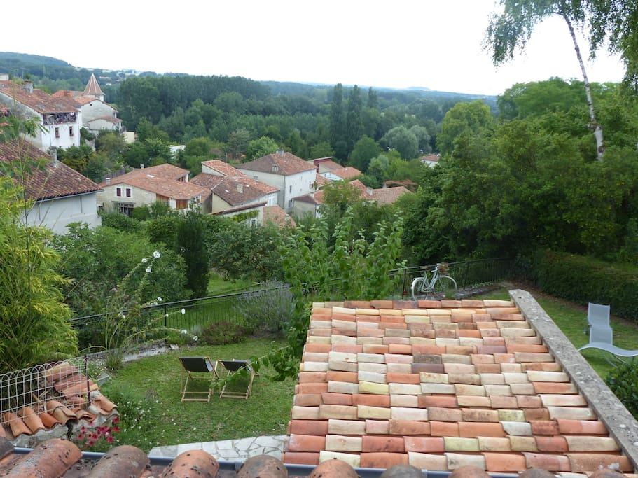 VIEW FROM THE LOUNGE ON THE VILLAGE