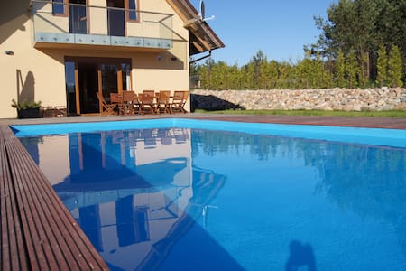 House with swimming pool and sauna up to 14 pers. - Zdunowice - Huis