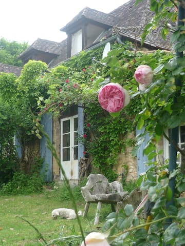 the Farmhouse at Marance,  the guest studio is in this house with its own private entrance.