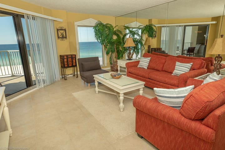 Inlet Reef 407 is a Gulf Front 2 BR 2 Ba - washer dryer - large balcony for amaz