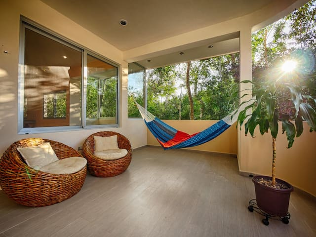 Picture yourself swinging on this hammock.