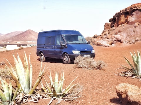 Discover lanzarote in a Ford Transit