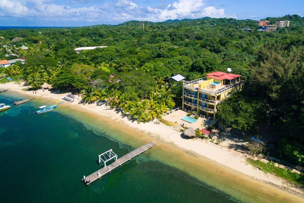 Overhead view of Villas Del P