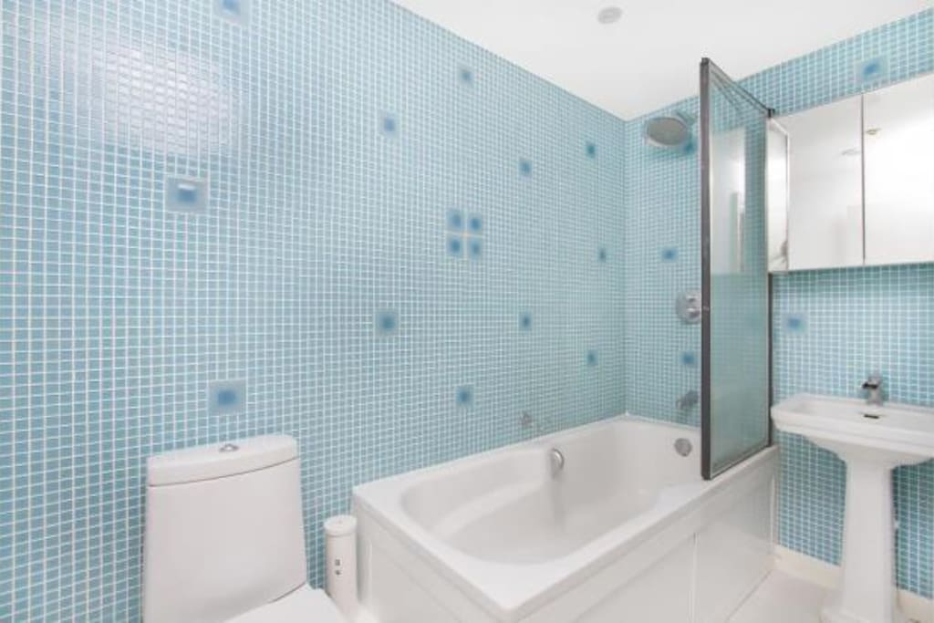 Modern bathroom, shared with one professional