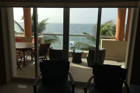 Ocean front luxury apartment.