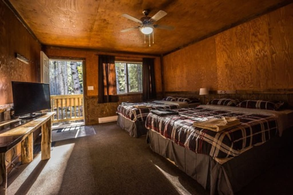Inside our lovely cabins