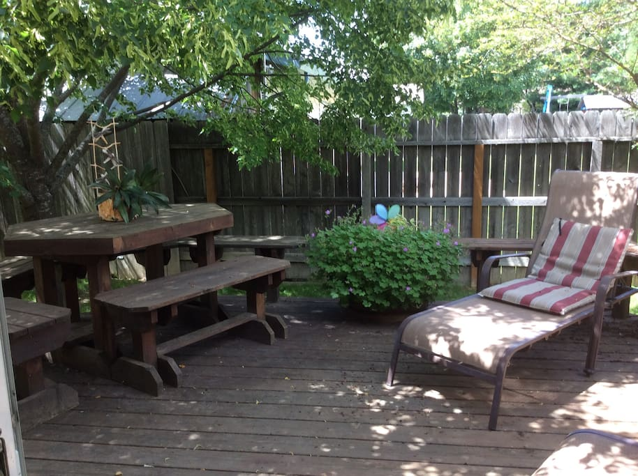 Back deck - w/ grill, herb & vegetable garden