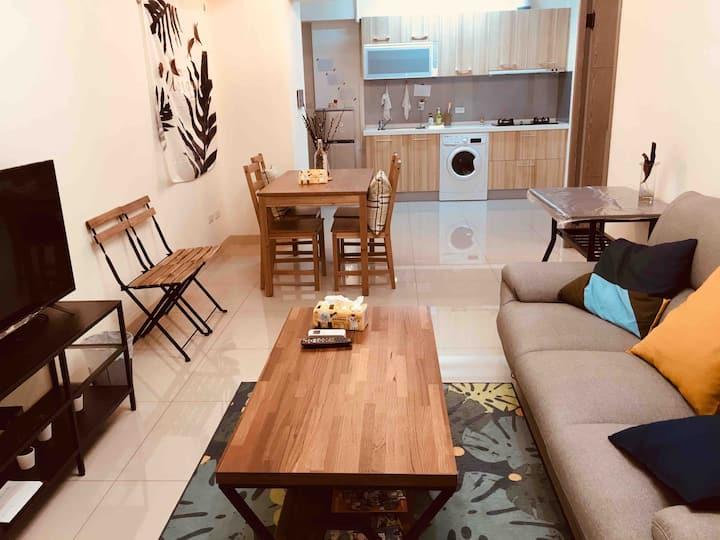 整套公寓-美麗島| Kaohsiung Formosa Boulevard MRT |3人家庭式