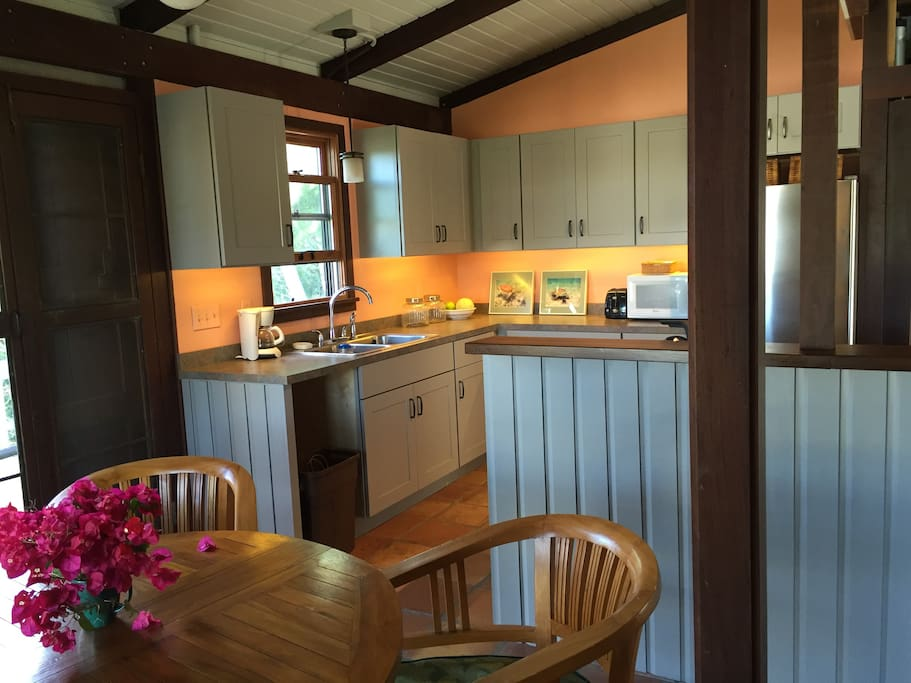 Enjoy a newly renovated kitchen with water views.