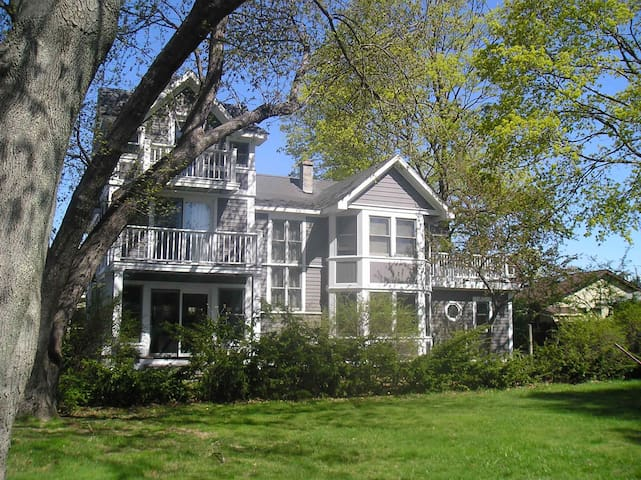 Bay Windows with view of Long Island Sound